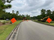 Brunswick Forest Parkway Lane Closure