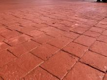 Stamped Concrete Island