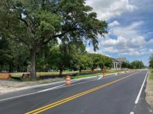 Striping on Old Fayetteville Road