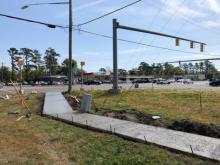 New sidewalks along Old Fayetteville Road