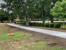 New sidewalks along Village Road